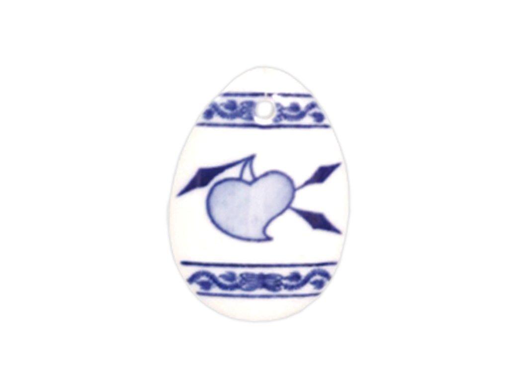 Velikonoční ozdoba - vajíčko - zápich - cibulový porcelán 70650 / 00075