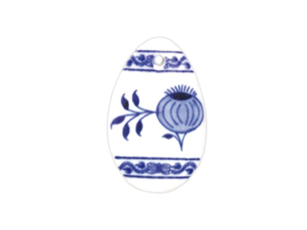 Velikonoční ozdoba - vajíčko - závěs - cibulový porcelán 10636 / 00074