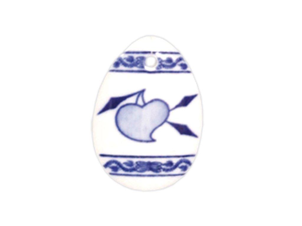 Velikonoční ozdoba - vajíčko - závěs - cibulový porcelán 10636 / 00075