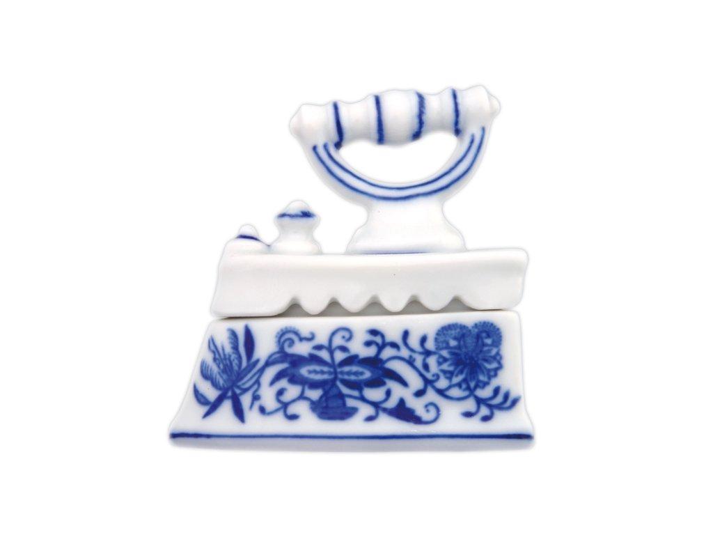 Žehlička mini - cibulový porcelán 70253
