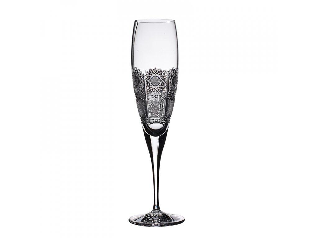 Broušené sklenice Fiona na šampaňské-flétny. 6 ks. Brus klasik 500 PK.