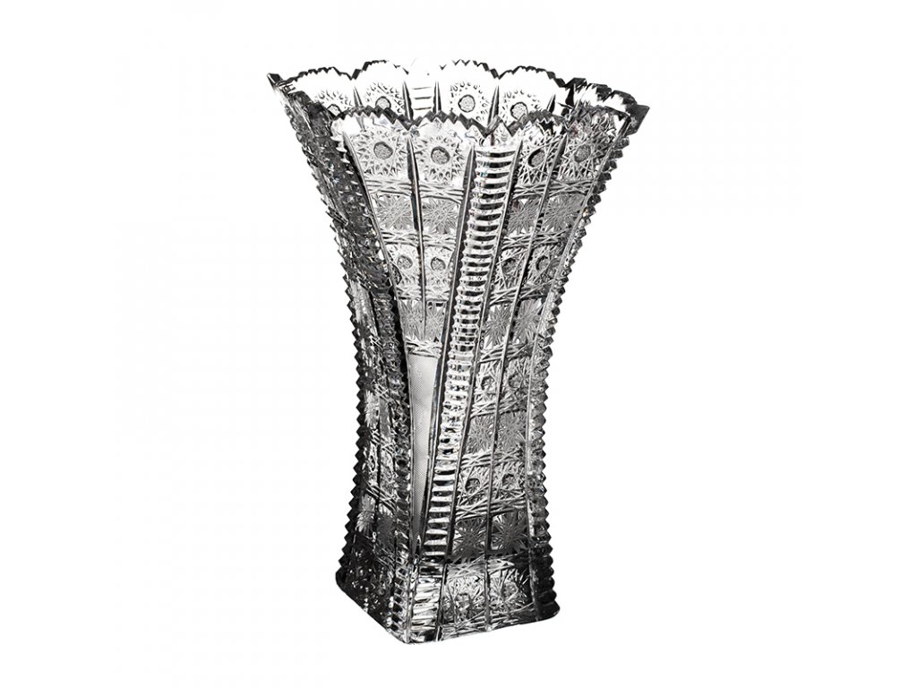 Broušená váza šestihran 81004/195 mm.Klasický brus 500 PK