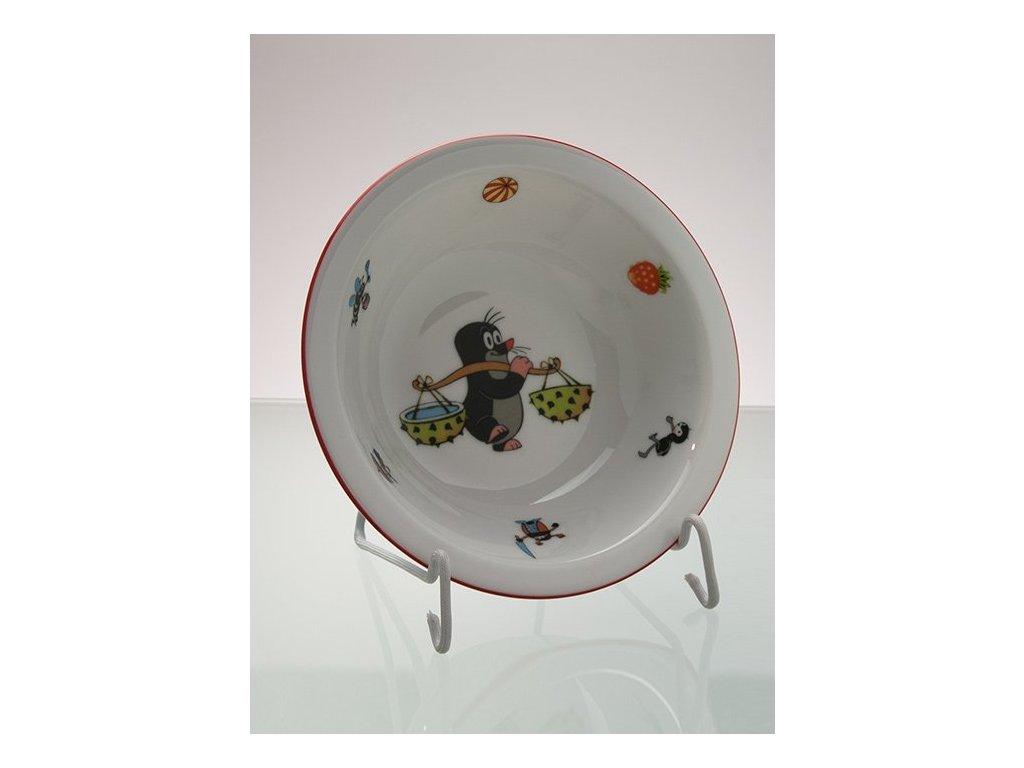 Porcelánová miska krteček s kaštany