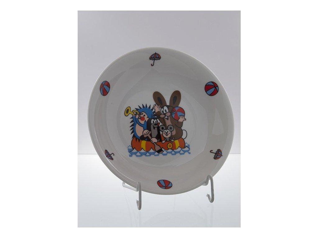 Porcelánový talíř hluboký krteček a kamarádi