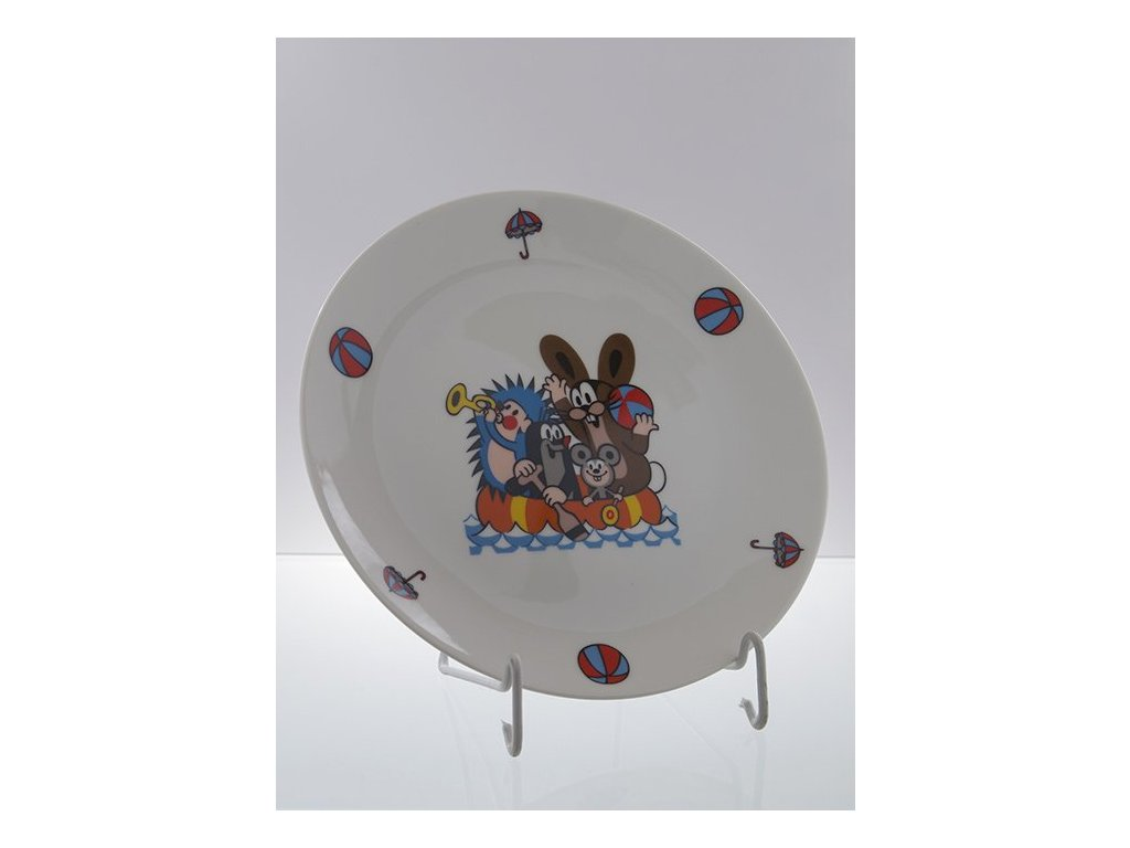 Porcelánový talíř mělký krteček a kamarádi