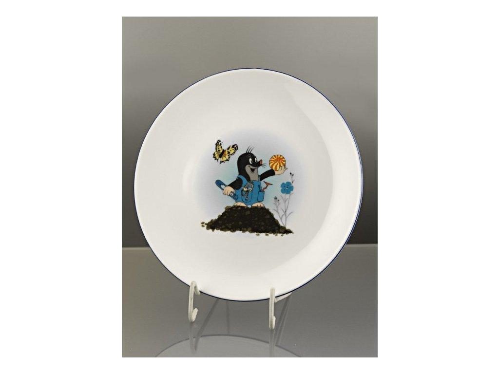 Porcelánový talíř mělký krteček s míčem