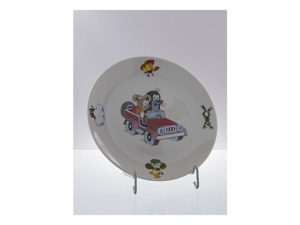 Porcelánový talíř mělký krteček v autě