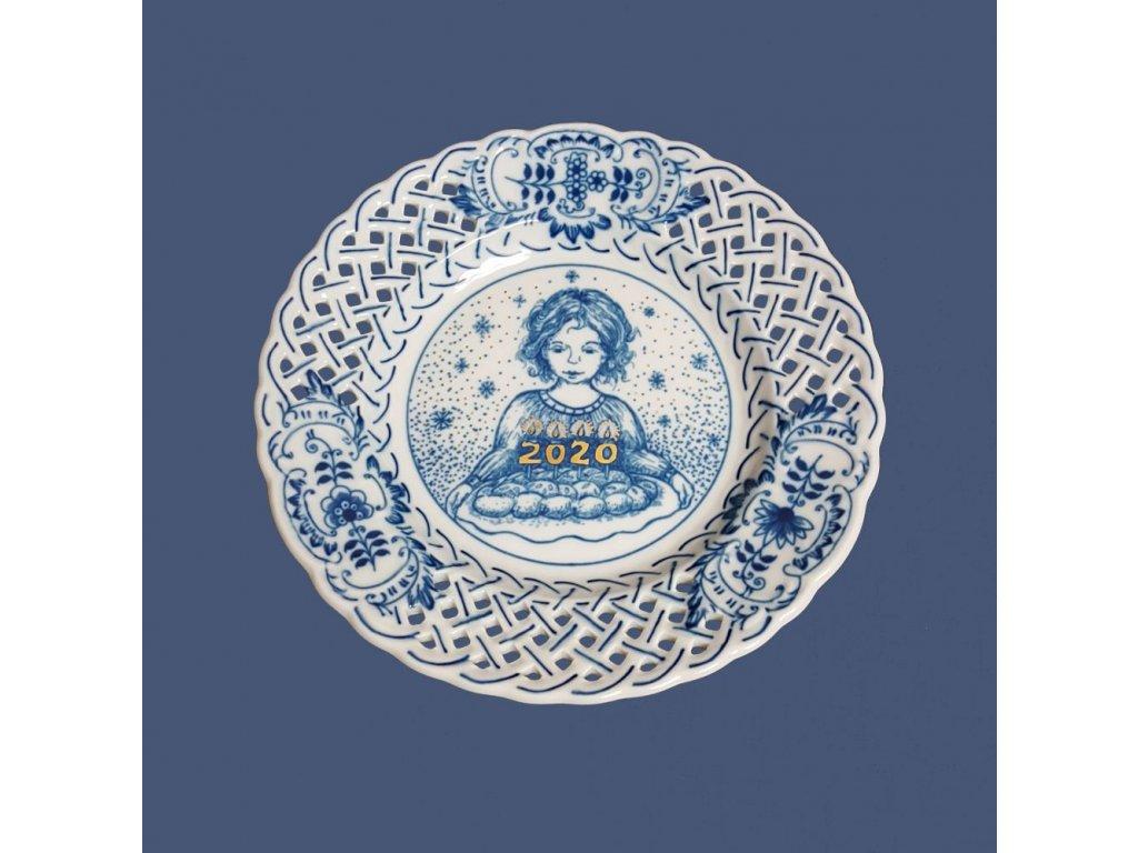 Talíř výroční 2020 - cibulový porcelán 10432/20