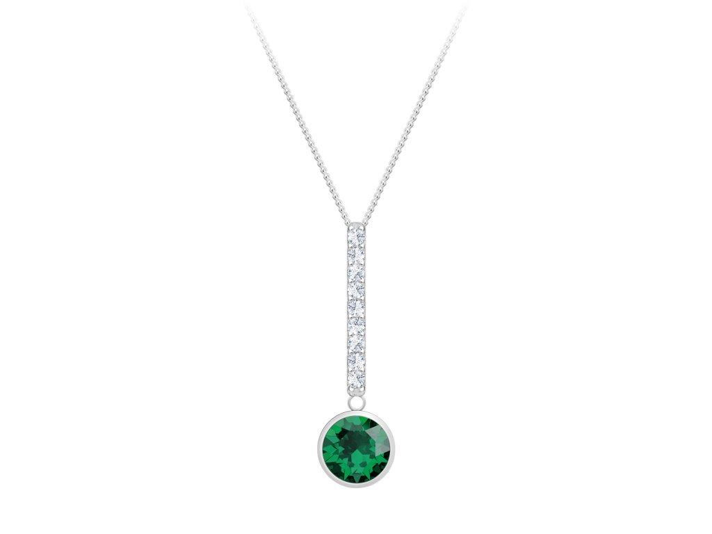 5291 stribrny privesek lucea s kubickou zirkonii preciosa emerald