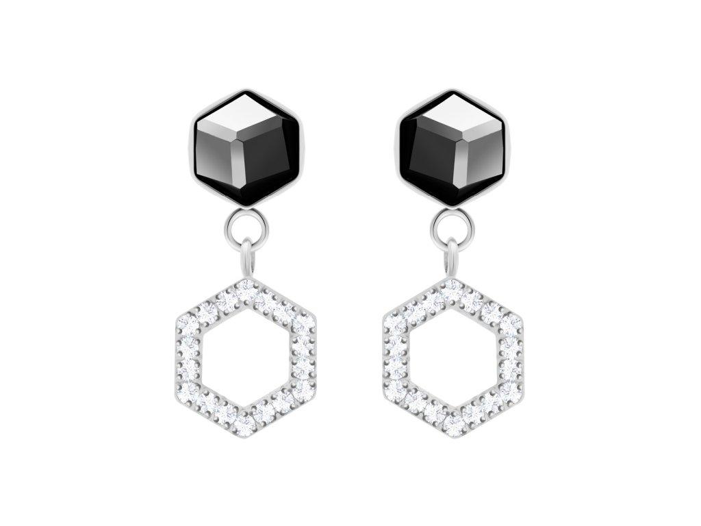 5321 ocelove nausnice honeygon s ceskym kristalem preciosa
