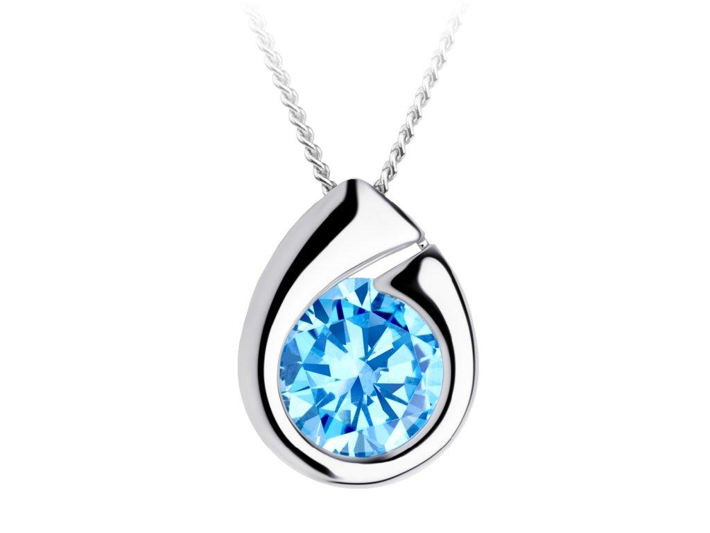 4551 3 stribrny privesek wispy s kubickou zirkonii preciosa modry