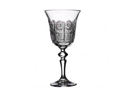 Broušené sklenice Laura na bílé víno. 6 ks. Brus klasik 500 PK