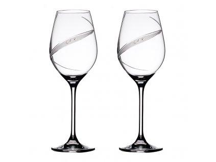 Sklenice na bílé víno přátelská souprava Line exclusive - 2 ks Swarovski