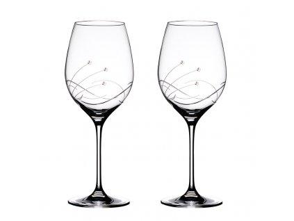 Sklenice na bílé víno přátelská souprava Kathe - 2 ks Swarovski