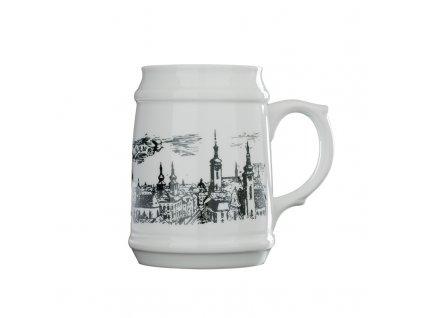 Půllitr na pivo porcelánový Brno