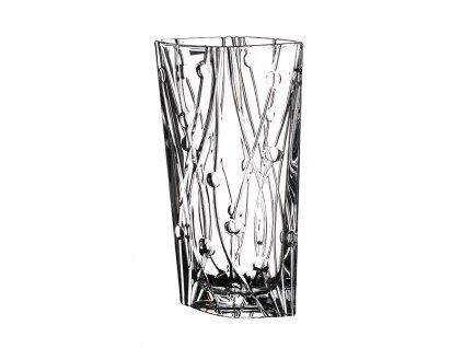 Skleněná váza široká Labyrinth 355 mm