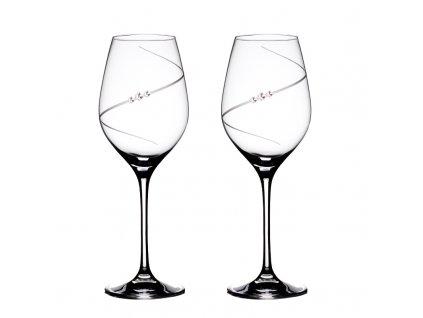 Sklenice na bílé víno přátelská souprava Silhouette - 2 ks. Swarovski