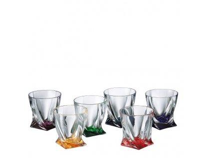 Barevné sklenice Quadro 340ml, 6 ks.