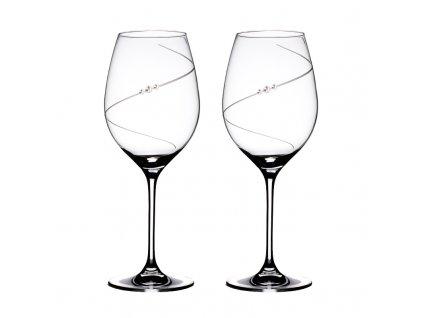 Sklenice na červené víno přátelská souprava Silhouette - 2 ks. Swarovski