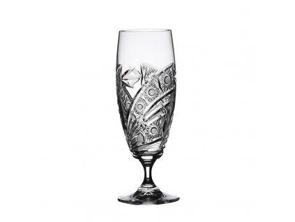 Broušené sklenice Laura na pivo. 6 ks. Brus kometa.