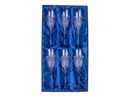 Broušené sklenice Fiona na bílé víno. 6 ks. Brus Paříž.
