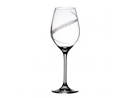 Sklenice na bílé víno Line exclusive - 6 ks. Swarovski