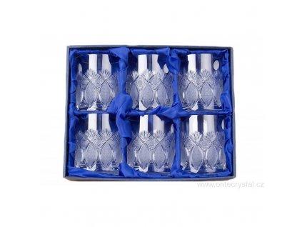 Broušené sklenice na whisky. 6 ks. Brus Paříž.