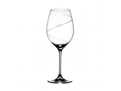 Sklenice na červené víno Silhouette - 6 ks Swarovski