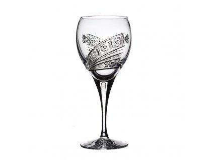 Broušené sklenice Fiona na červené víno. 6 ks. Brus kometa.