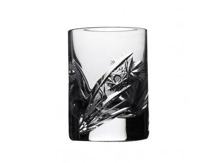 Broušené sklenice na likér, panák široký. 6 ks. Brus kometa