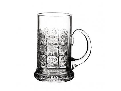 Broušený korbel na pivo. Klasický brus 500 PK