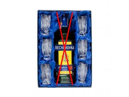 Becher set 6ks. broušených skleniček