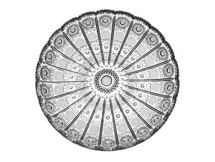 Broušené křišťálové sklo, dortový talíř 66025/280 mm. Klasický brus 500 PK.