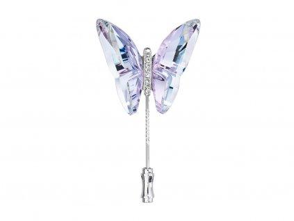 Brož Papillon ve tvaru motýla z českého křišťálu Preciosa - kombi