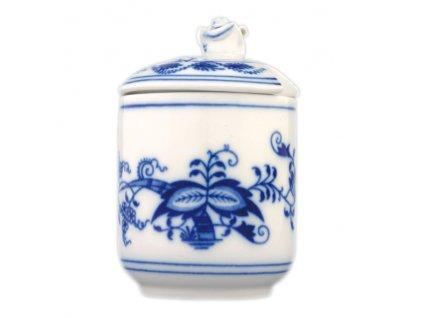 Hořčičník s víčkem s výř. - cibulový porcelán 70528