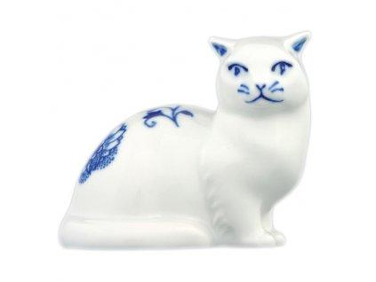 Kočka sedící - cibulový porcelán 10452