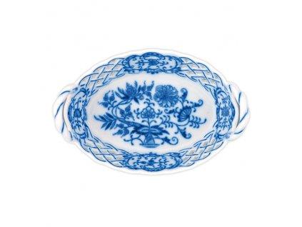 Košík prolamovaný 11cm - cibulový porcelán 10145