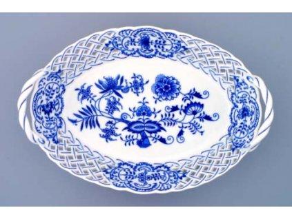 Košík prolamovaný 28cm - cibulový porcelán 10150
