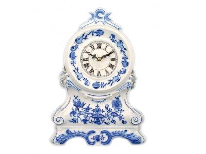 Krbové hodiny s růžemi- se strojkem - cibulový porcelán 10345