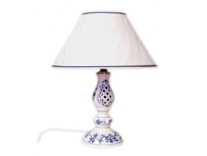Lampa prolamovaná se stínítkem kašmír - cibulový porcelán 70559
