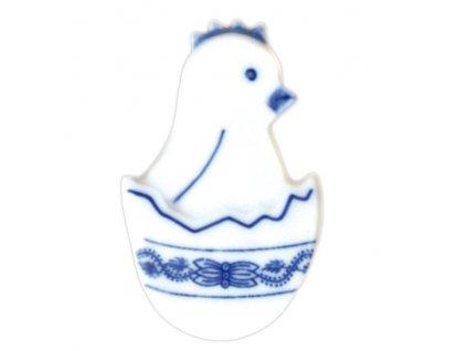 Magnetka - kuřátko ve skořápce - cibulový porcelán 70722