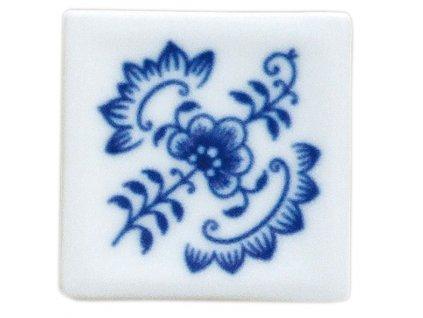 Magnetka - vitráž čtvereček - cibulový porcelán 70671