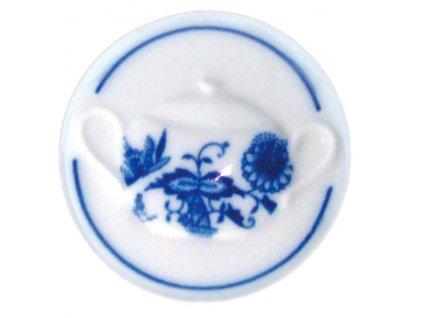 Magnetka kulatá - cukřenka s uchy - cibulový porcelán 70714