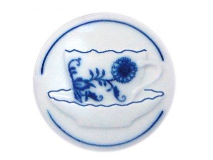 Magnetka kulatá - šapo - cibulový porcelán 70673