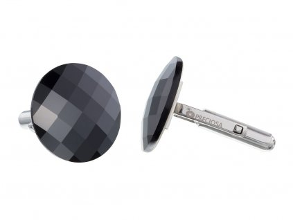 Manžetové knoflíky z chirurgické oceli Casper - černé