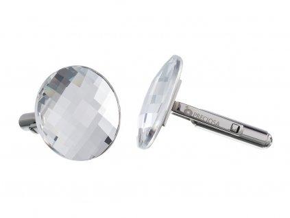 Manžetové knoflíky z chirurgické oceli Casper - krystal
