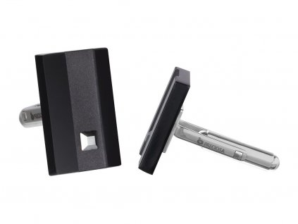 Manžetové knoflíky z chirurgické oceli Lucas - černé
