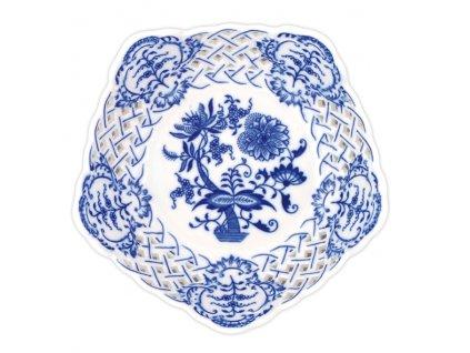 Mísa pětihranná prolamovaná 19cm - cibulový porcelán 10159