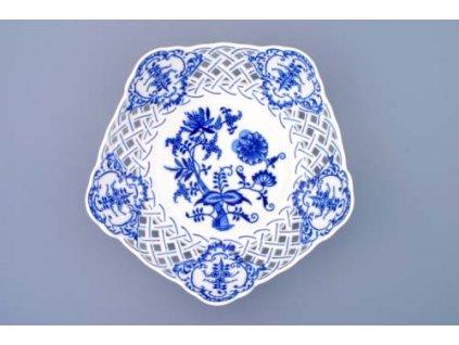 Mísa pětihranná prolamovaná 24cm - cibulový porcelán 10160