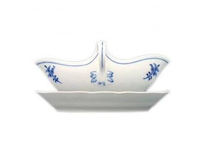 Omáčník ovál. s podstavcem - cibulový porcelán 10100